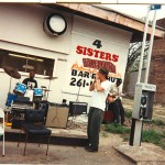 "Sugar Brown blowing some harp back in 1994 on the west side of chicago. Johnny B. Moore on guitar and ""Baldhead"" Pete on drums...."