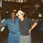 Sugar Brown chillin' with Action Jackson, proprietor of the great 5105 Club in Chicago's West Side. Summer 1994. — at 5105 Club.